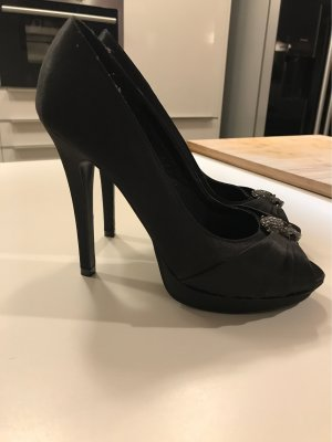 SMH Peep Toe Pumps black