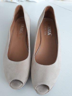 Mania Peep Toe Ballerinas beige-pink