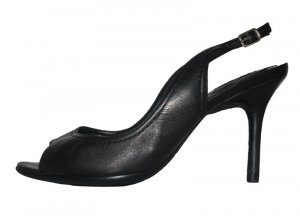 Schutz Heel Pantolettes black leather