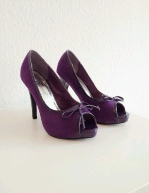 Peeptoes lila velours