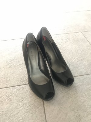 Peeptoes Nine West schwarz