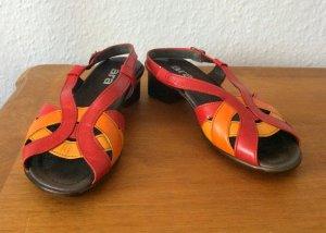 Peeptoes Sandalen aus Leder Ara 70er 70s