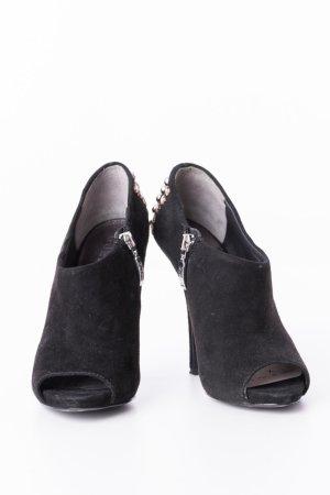 Guess Tacones con punta abierta negro-color plata Cuero