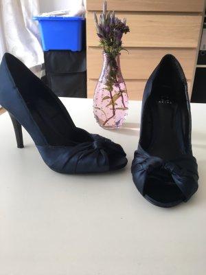 Akira Peep Toe Pumps black-dark blue