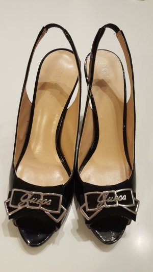 Guess Peep Toe Pumps zwart Leer