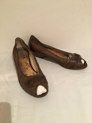 Peeptoes Wedges Pumps Gr. 41 braun