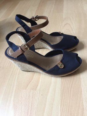 Tom Tailor Wedge Sandals dark blue