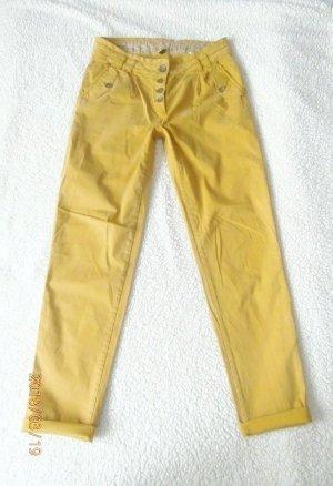 Peggy Boyfriend Hose Größe 38 Hose Modefarbe Senf Mais Curry gelb neuwertig