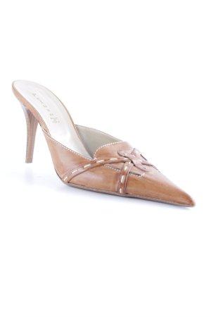 peluso High Heel Sandaletten hellbraun klassischer Stil
