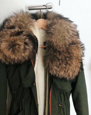 We Love Furs Chaqueta de lana caqui