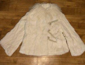 Giacca in pelliccia bianco Pelliccia