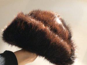 Cappello marrone scuro-marrone-nero