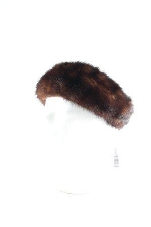 Pelzatelier Puscha Ohrenwärmer dunkelbraun Kuschel-Optik