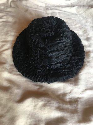 Cappello impermeabile nero Pelliccia