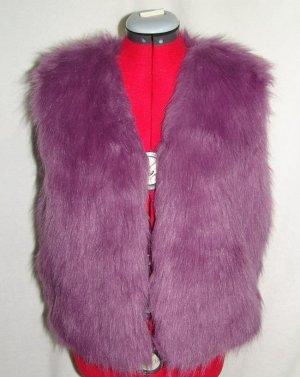 Chaleco de piel violeta grisáceo-lila grisáceo Poliéster