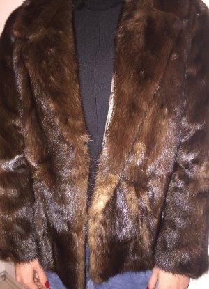 Pelliza marrón-marrón oscuro