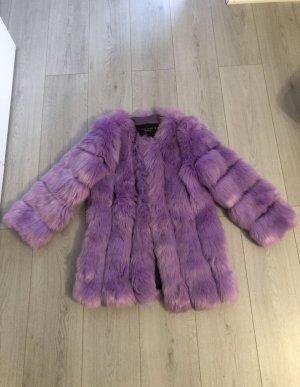 Veste de fourrure violet