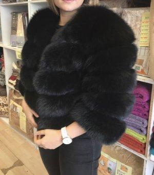 Pelzjacke Echtfell schwarz Jacke