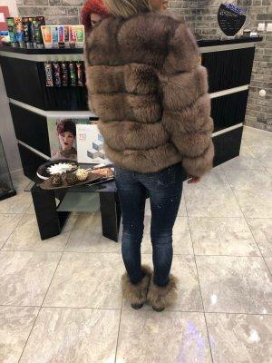 Pelzjacke Felljacke Beige Fur