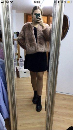 H&M Fur Jacket rose-gold-coloured