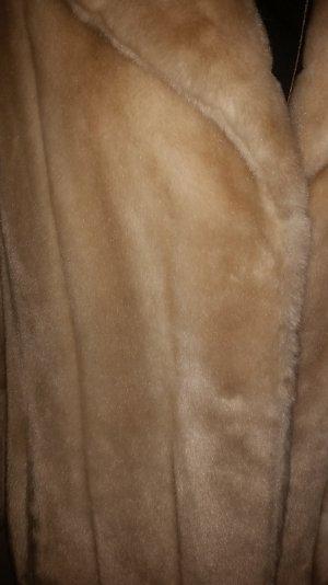 PELZJACKE KURZMANTEL GR: 38 TRAUMHAFTER LUXUS IN BEIGE