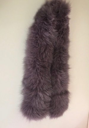 Hooded Coat multicolored fur