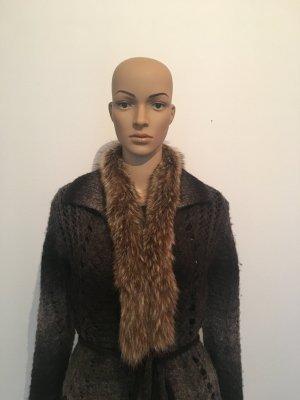 Pelzkragen Schalkragen Pelz Fell mit hakenverschluß echt kuschelig Winter edel Luxus