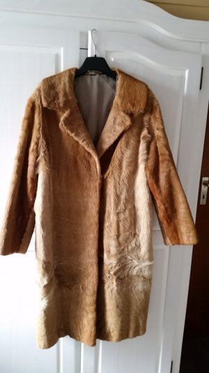 Pelt Coat cognac-coloured-oatmeal fur