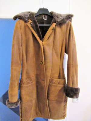 Pelt Coat cognac-coloured-black brown pelt