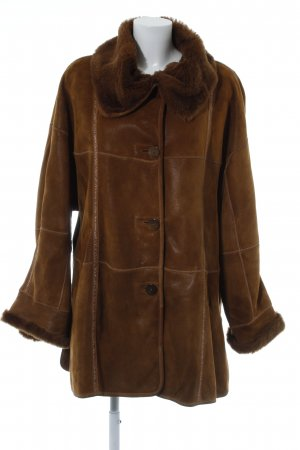Pelt Coat cognac-coloured fluffy