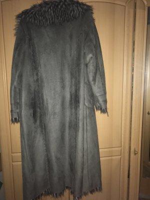 Cappotto in eco pelliccia grigio
