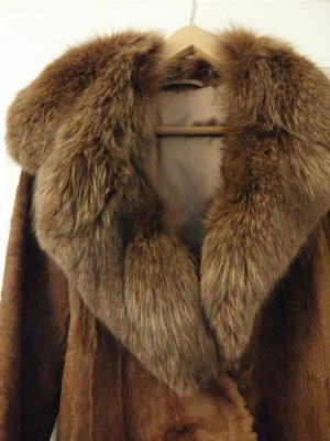 Pelt Coat brown-cognac-coloured pelt