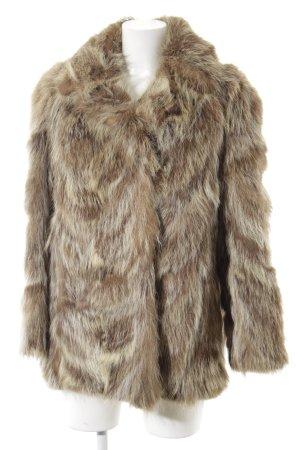 Pelt Coat light brown-oatmeal color gradient Aztec print