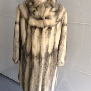 Pelt Coat silver-colored-anthracite