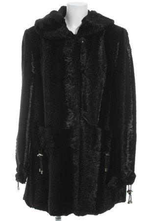 Pelzmantel schwarz Elegant