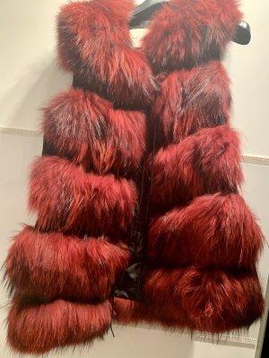 Veste de fourrure multicolore fourrure