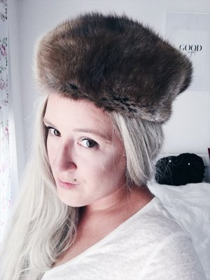 Fur Hat black brown-brown