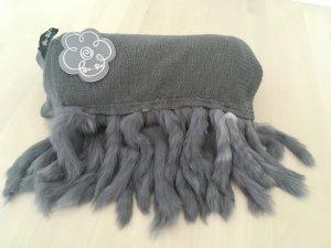 Wollen sjaal donkergrijs-grijs