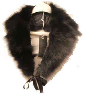 Sjaal met franjes zwart Bont