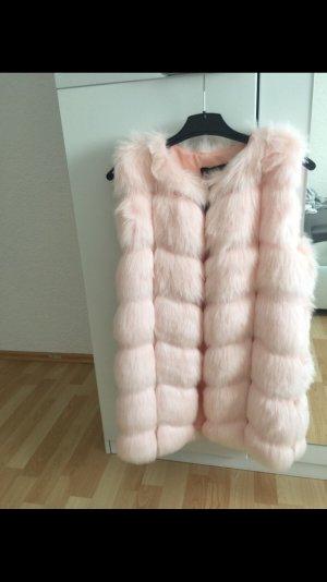 Smanicato di pelliccia rosa chiaro