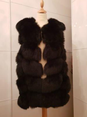 Pelzen jack zwart