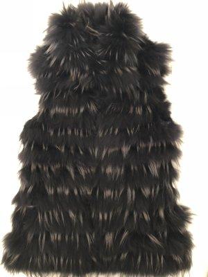 Pelzweste schwarz