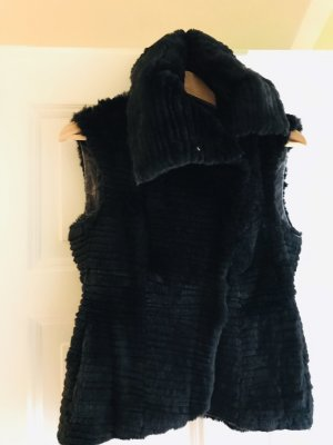 Hugo Boss Fur vest black fur