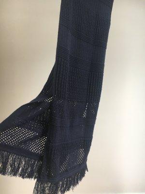 Pencil knit skirt Rock navy von Mango S mit Fransen