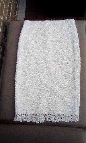 Zara Trafaluc Pencil Skirt white
