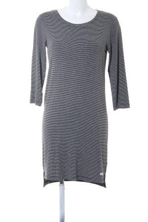 Penn & Ink Langarmkleid schwarz-grau Streifenmuster schlichter Stil