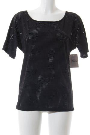 Penn & Ink T-Shirt schwarz Punktemuster Casual-Look