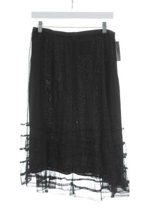 Penniless Net by Noa Noa Jupe en tulle noir motif de tache style gothique