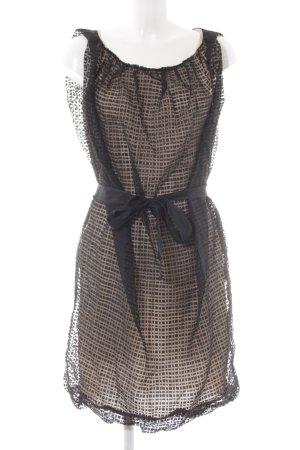 Pennyblack A-Linien Kleid schwarz-nude abstraktes Muster Elegant