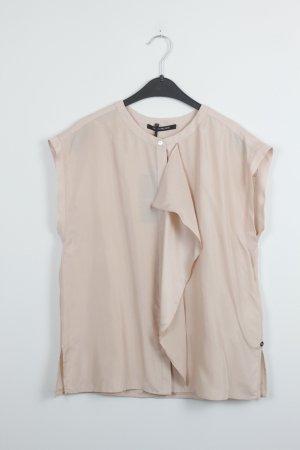 PENNYBLACK Bluse Seide Silk Gr. 36 nude Ärmellos Neu mit Etikett (18/9/620)